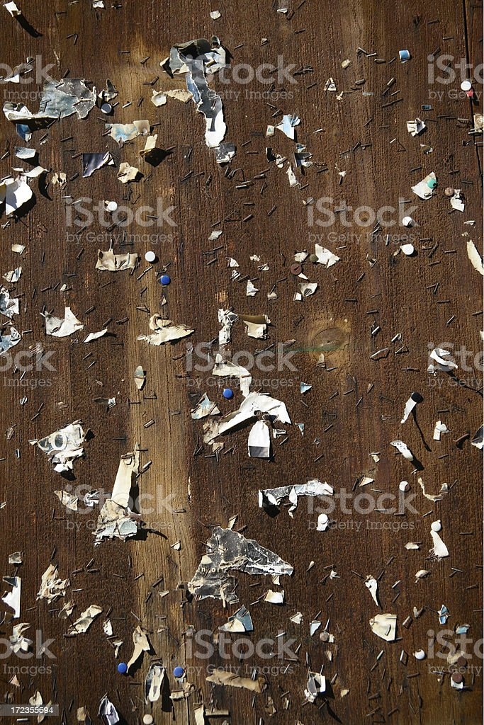 Abandoned Pinboard royalty-free stock photo