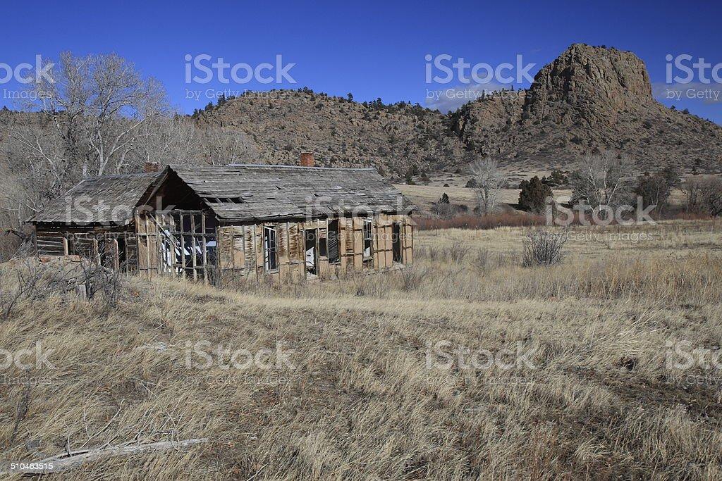 Abandoned Pioneer Cabin, Northern Colorado USA stock photo