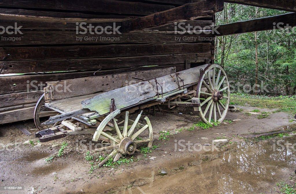 Abandoned Pioneer Wagon stock photo