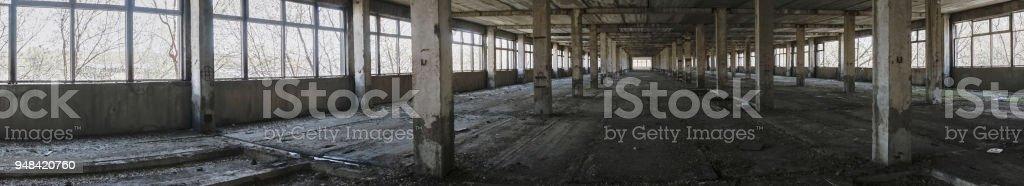 Abandoned plant panorama stock photo