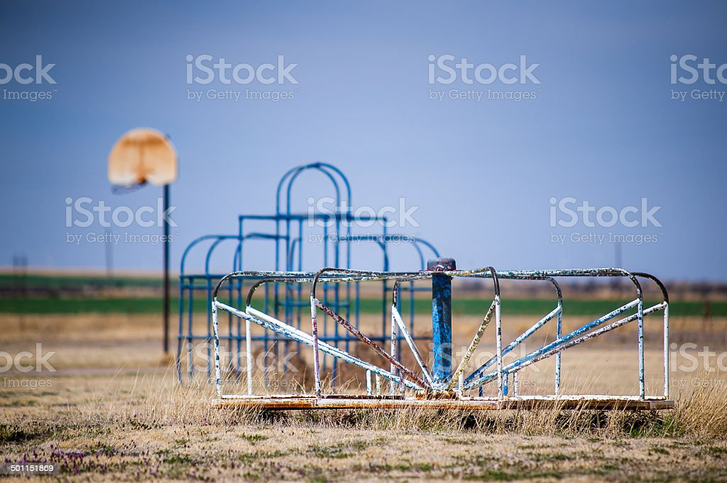 Abandoned Playground Toys stock photo