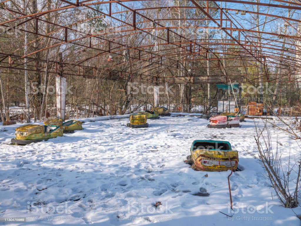 Abandoned Playground With Cars Stock Photo Download Image Now Istock