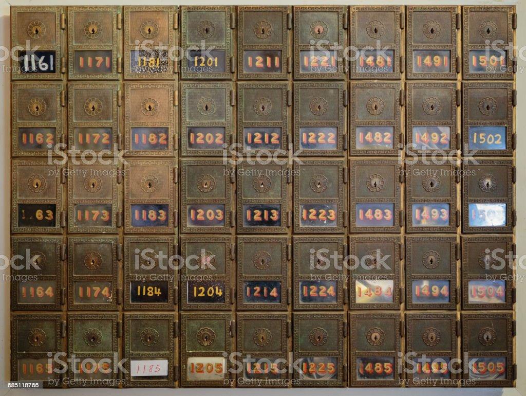 Abandoned PO Boxes royalty-free stock photo