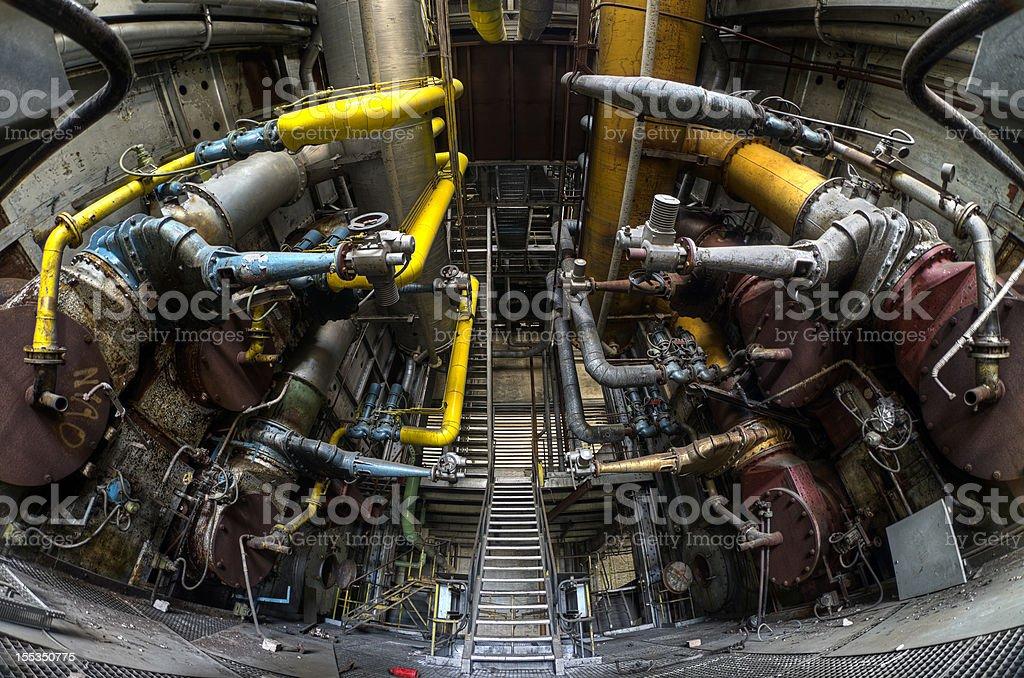 Abandoned power plant - HDR stock photo