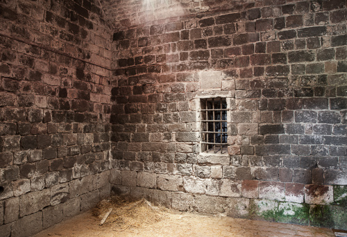 Abandoned prison cell