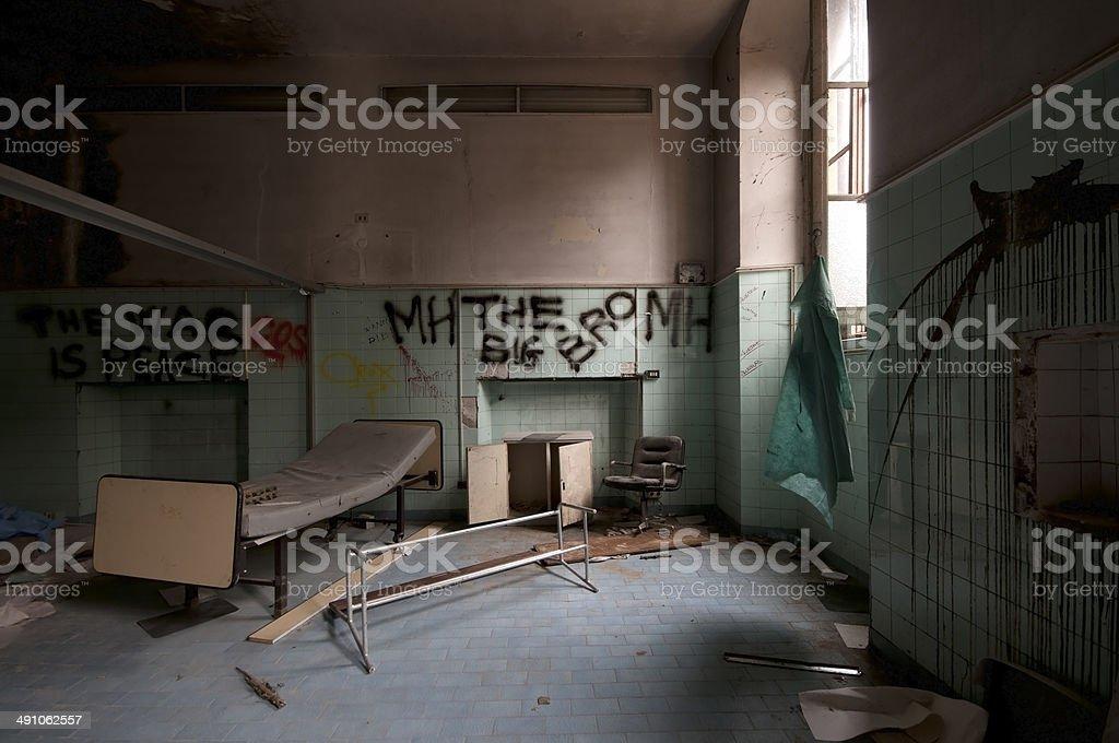 Abandoned Psychiatric Hospital royalty-free stock photo