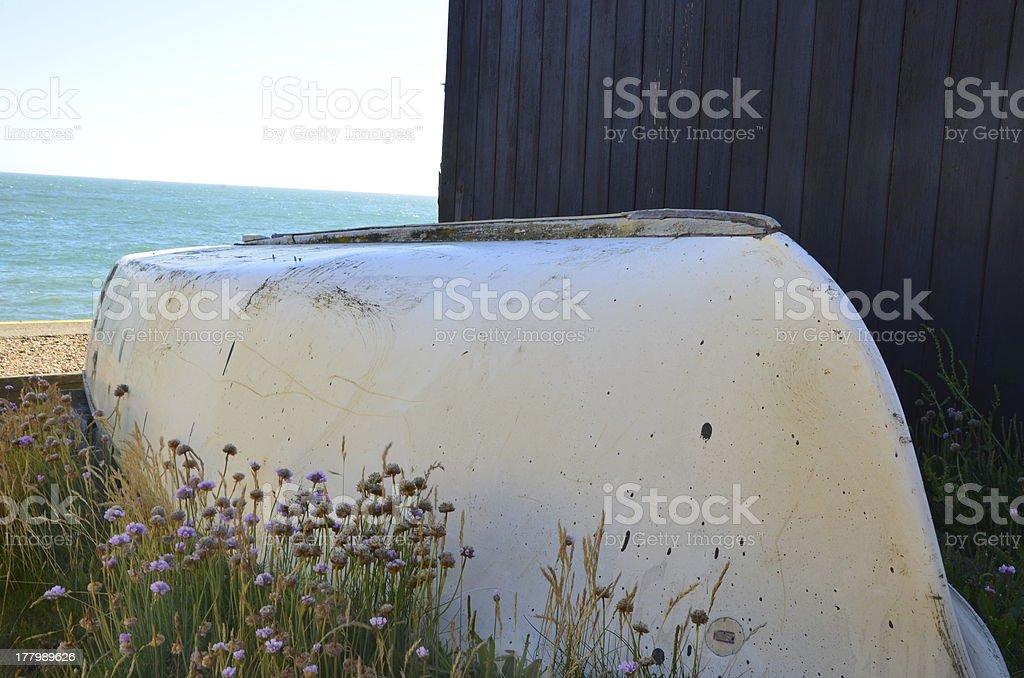 Abandoned Raft royalty-free stock photo