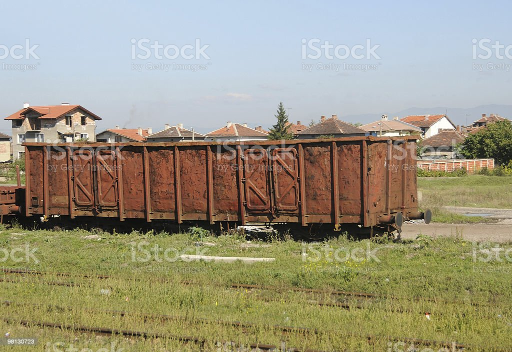 Abandoned rail car royalty-free stock photo