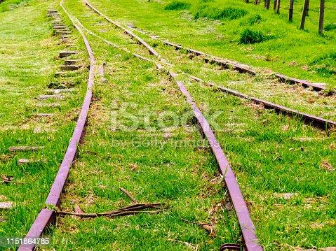 istock Abandoned railroad junction 1151864785