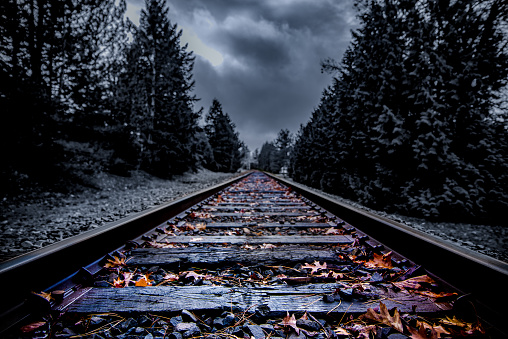 Abandoned railroad ominous