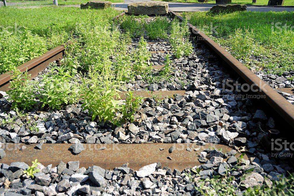 abandoned railroad track royalty-free stock photo