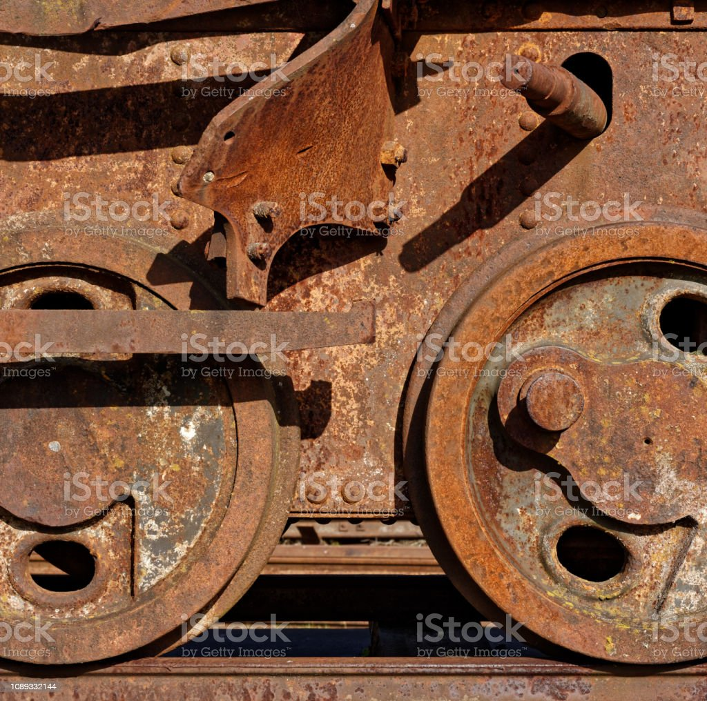 Abandoned railway car stock photo
