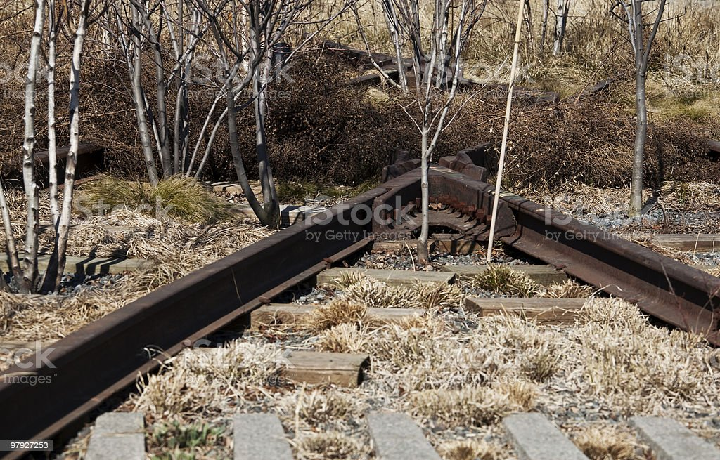 abandoned railway tracks royalty-free stock photo