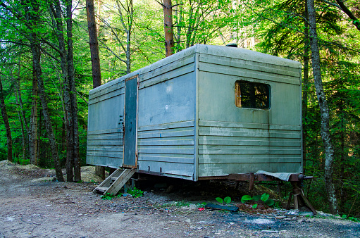 Abandoned Retro Travel Trailer Mobile Home Stock Photo ... on trailer homes, aretha's homes, retro park model homes, vintage homes, retro buses, retro motorcycles, retro furniture, 900 square foot homes, retro tile, one level homes, retro boats,