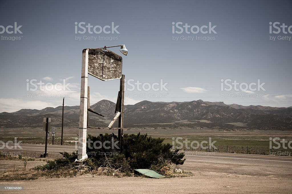 Abandoned Roadside Sign royalty-free stock photo