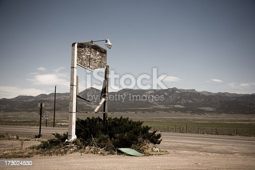 Abandoned Roadside Sign