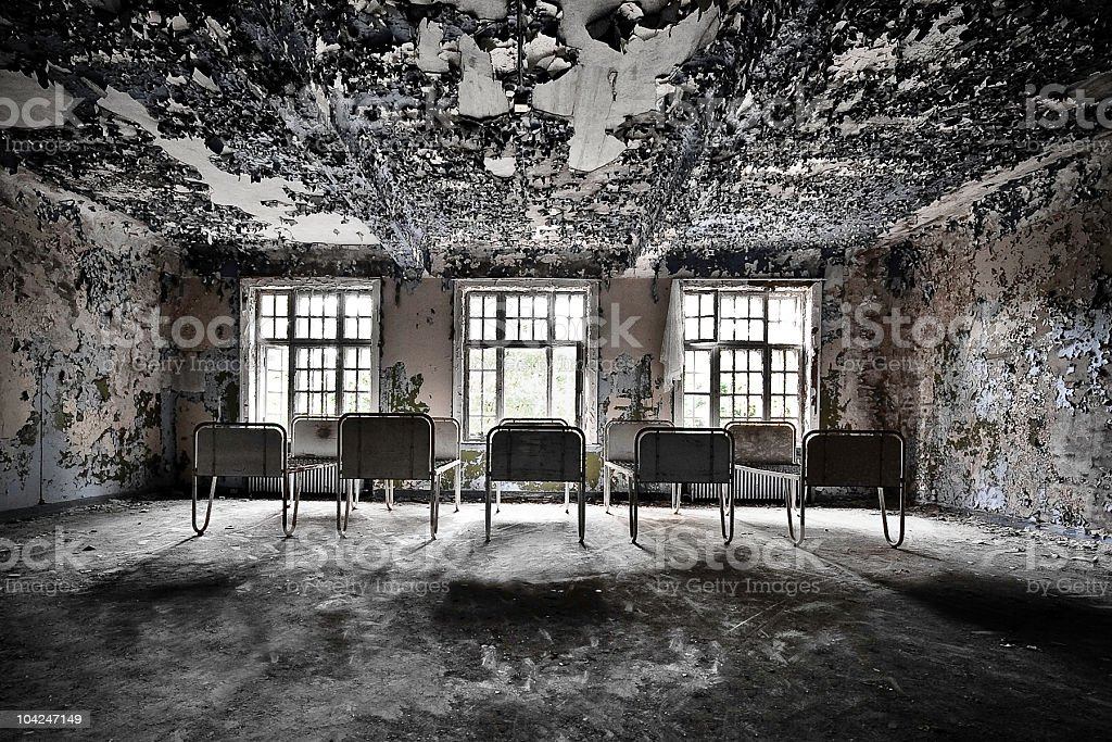Abandoned room royalty-free stock photo