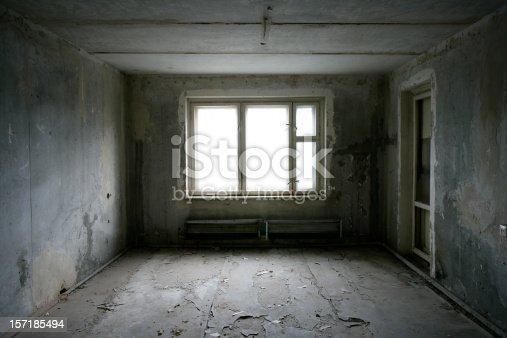 Dark abandoned room.