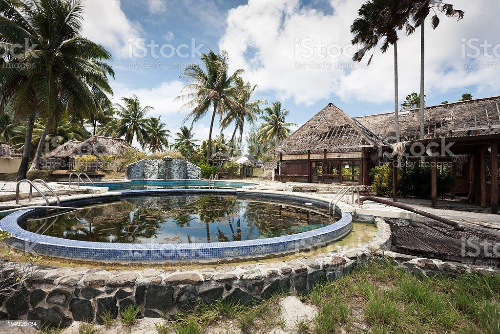 Abandoned Rotting Tourist Hotel Resort Series I stock photo