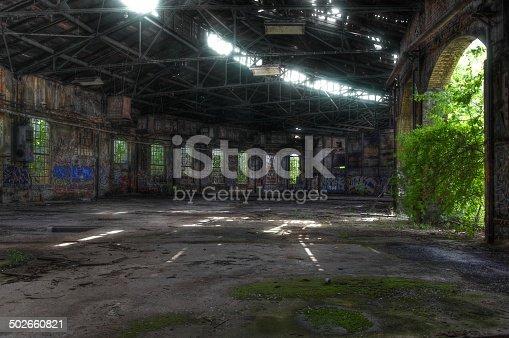 istock Abandoned roundhouse 502660821