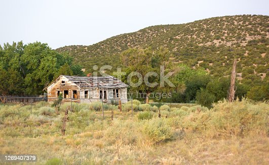 Abandoned Run-Down Rotting Old Wood House