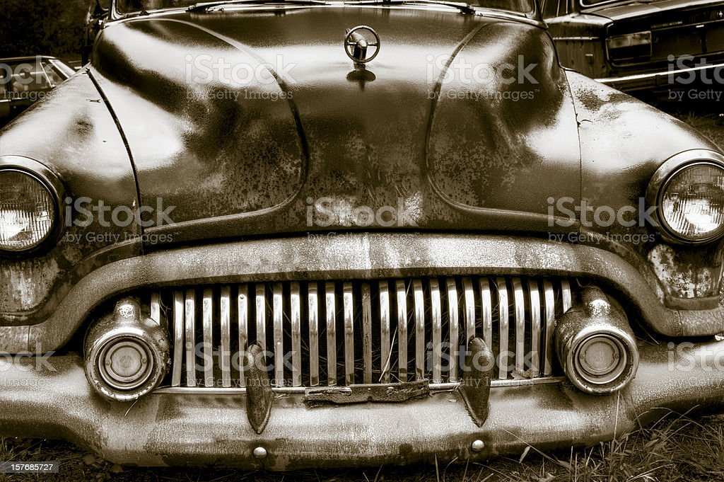 Abandoned rusted car royalty-free stock photo