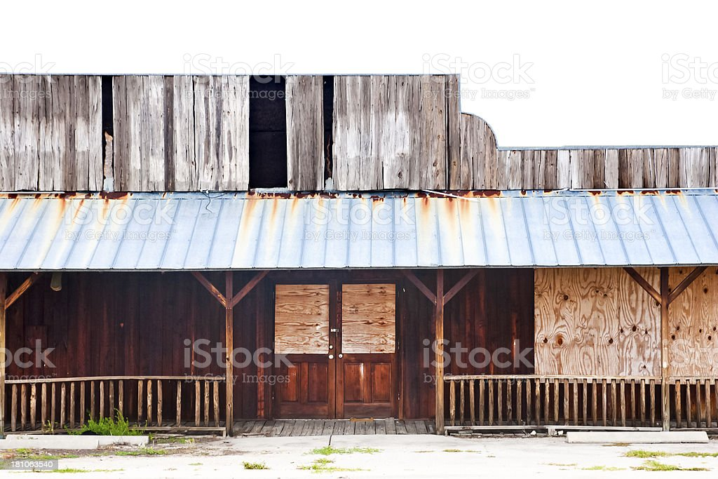 Abandoned Saloon stock photo