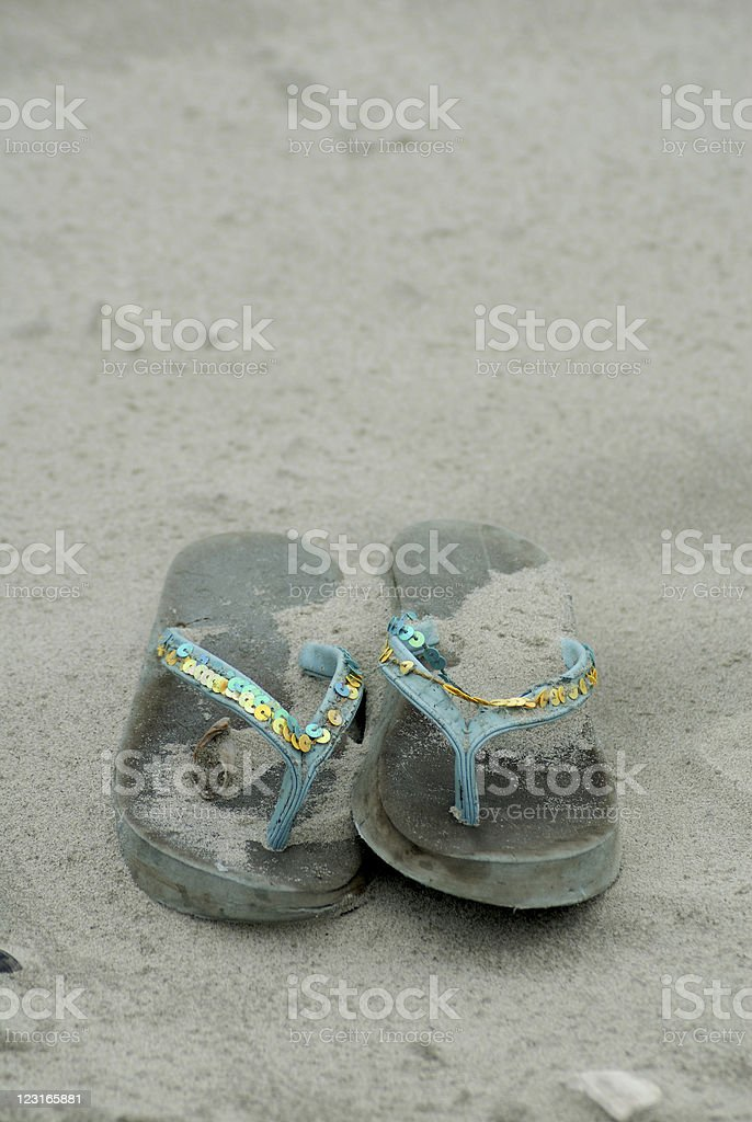 Abandoned Sandals royalty-free stock photo