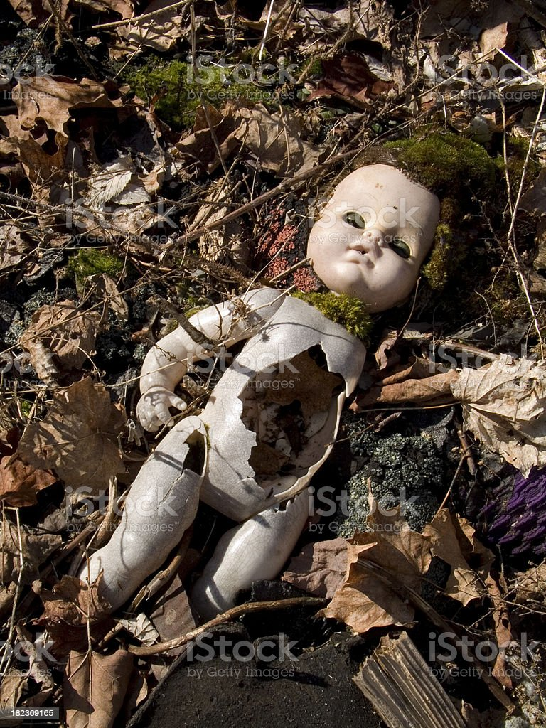 Abandoned Scary Doll stock photo