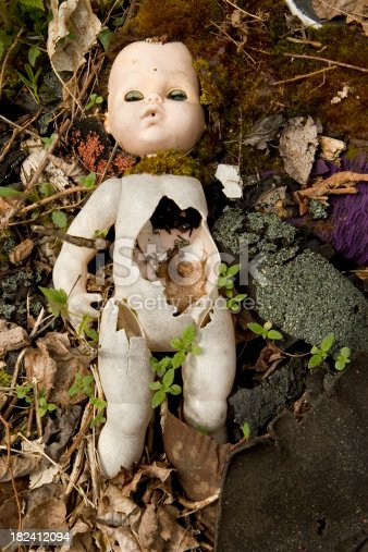 istock Abandoned Scary Doll 182412094