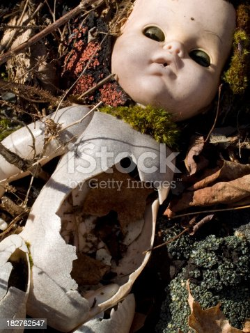 istock Abandoned Scary Doll 182762547