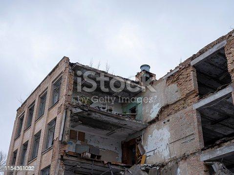 Abandoned school in  Pripyat city, Chernobyl Exclusion Zone, Ukraine