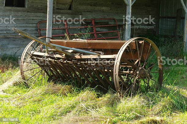 Abandoned Seeder Stock Photo - Download Image Now