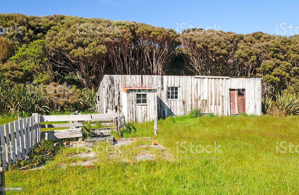 Abandoned Settlement on a Remote Island stock photo