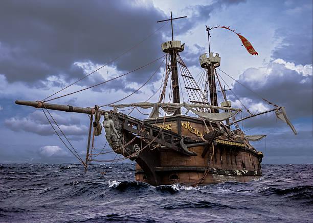 Bateau abandonné sur la mer - Photo