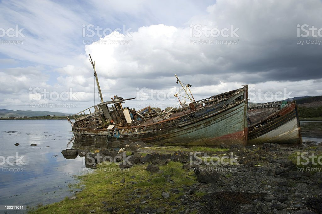 Abandoned Ships royalty-free stock photo