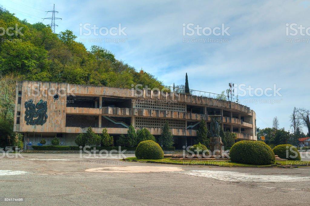 Abandoned shopping center 'Zhoekvara', HDR stock photo