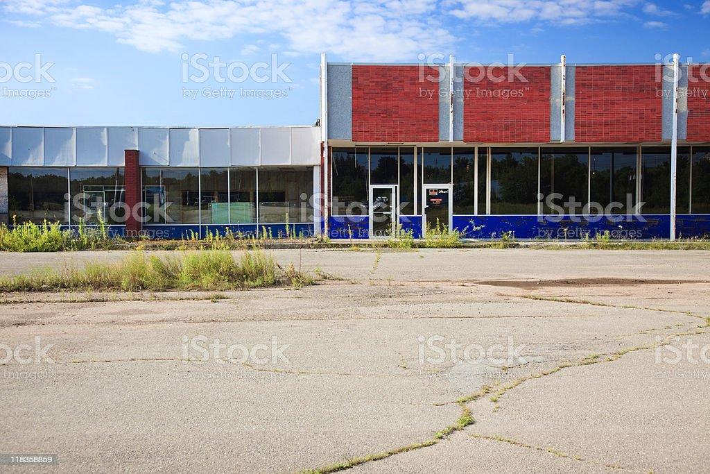 Abandoned shopping mall stock photo