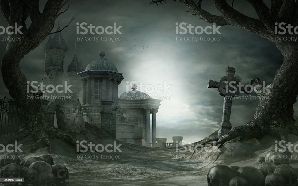 Abandoned shrine stock photo