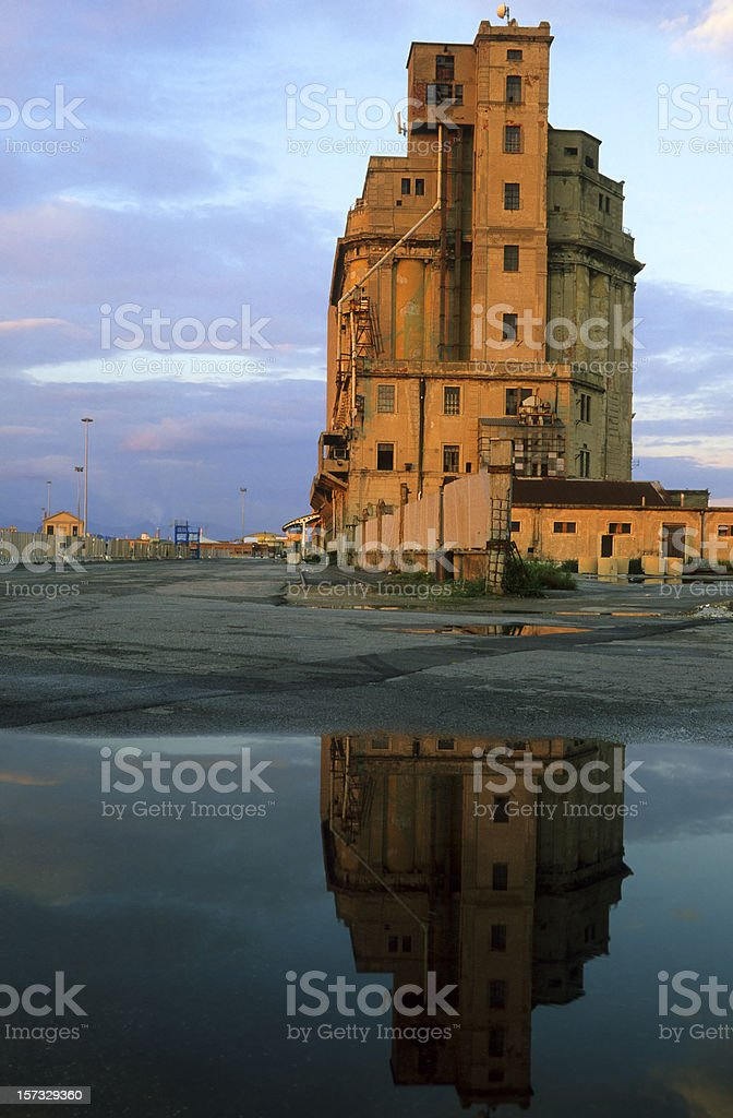 Abandoned silo . The Day After Tomorrow-series. royalty-free stock photo