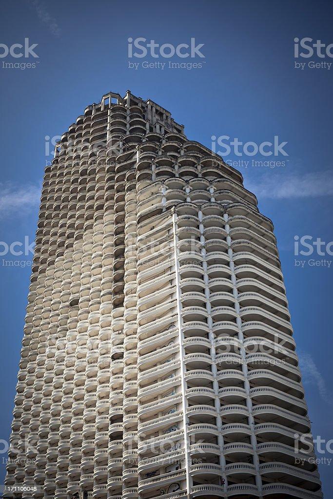 abandoned skyscraper stock photo