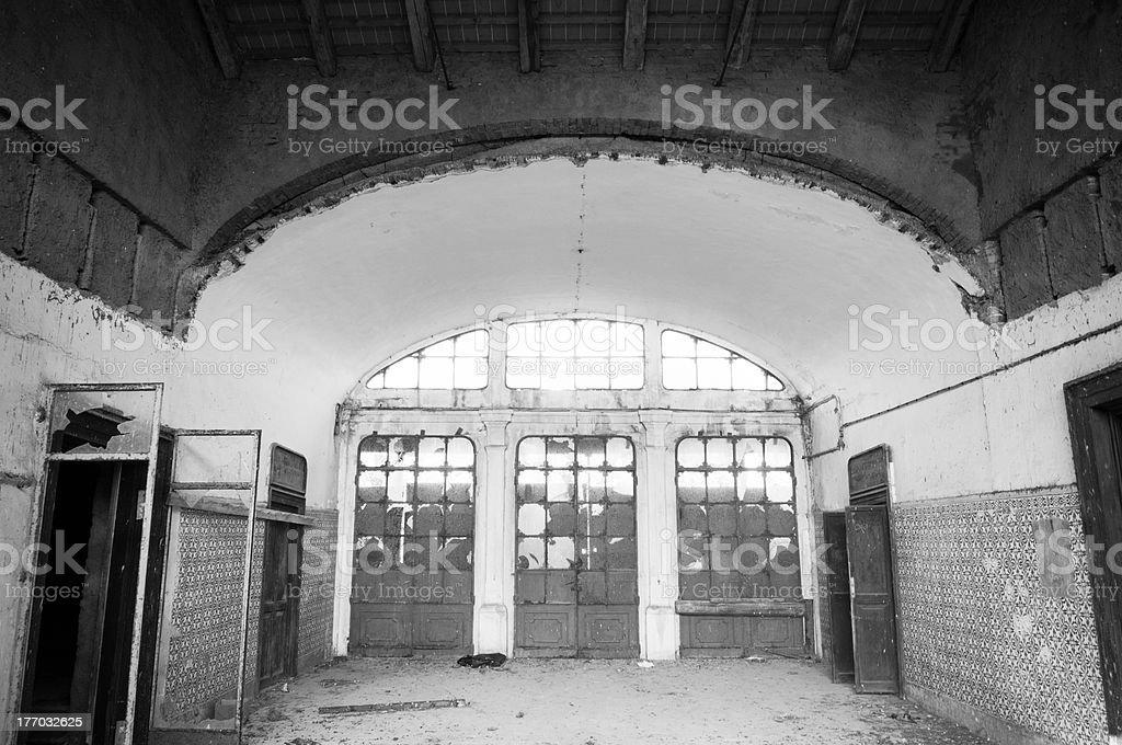 Abandoned station stock photo