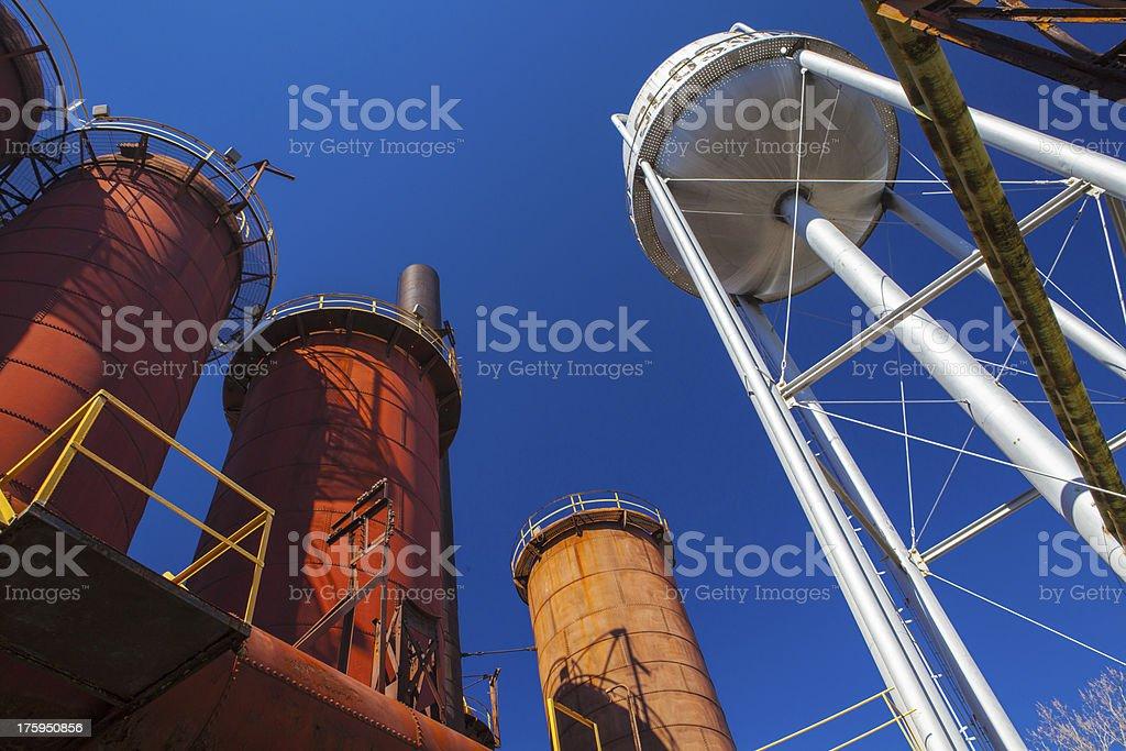 Abandoned Steel Mill, Birmingham, AL stock photo