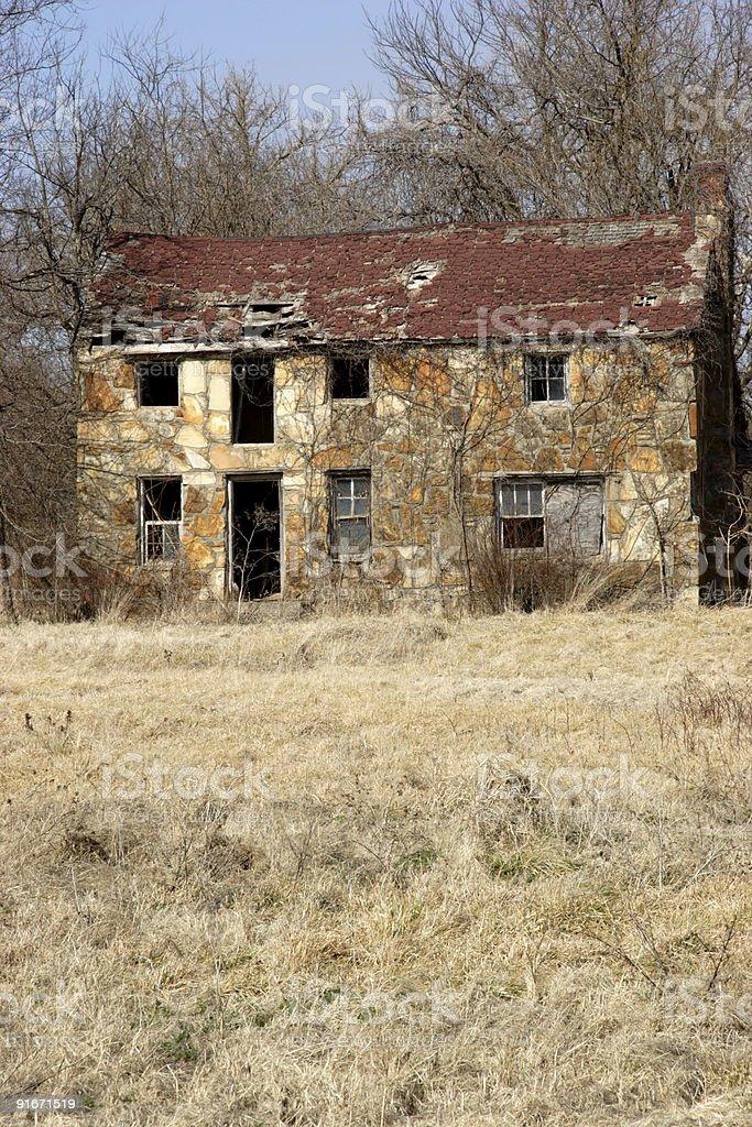 abandoned stone farmhouse royalty-free stock photo