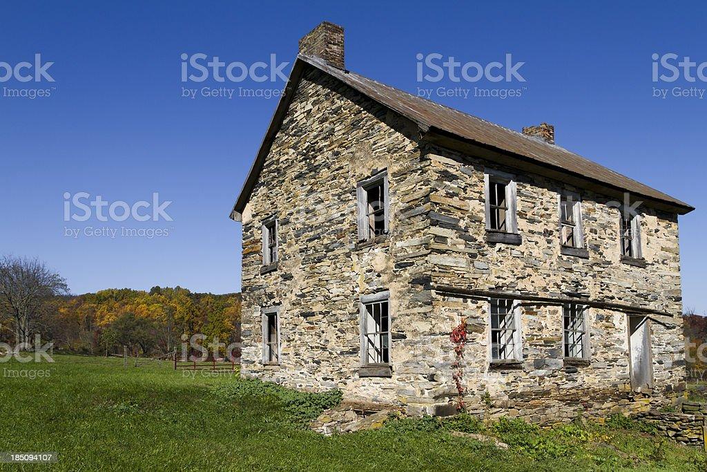 Abandoned Stone House royalty-free stock photo