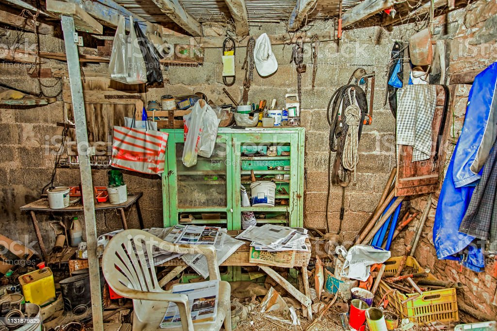Abandoned storage room.  HDR Stock Photo stock photo