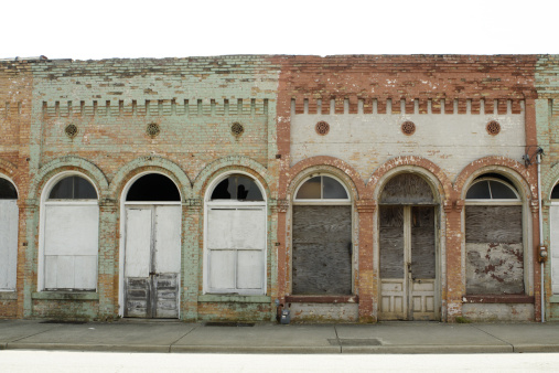 abandoned store fronts in a small town in South Carolina. - See lightbox for more