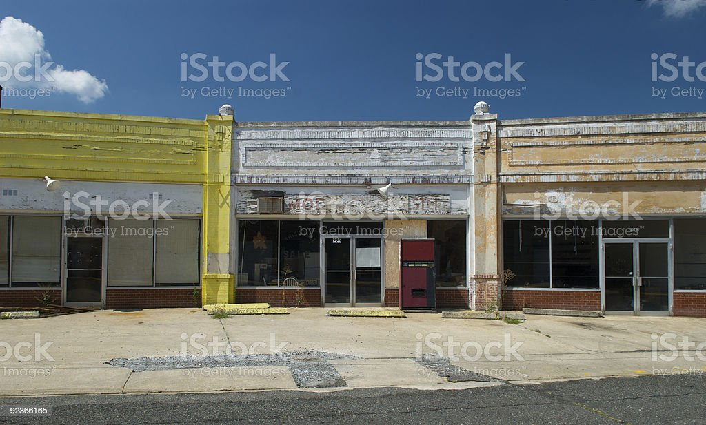 Abandoned Store Front royalty-free stock photo