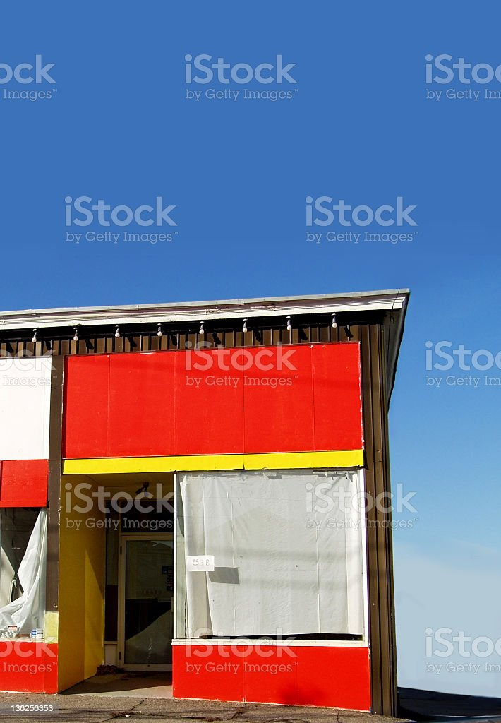 abandoned storefront royalty-free stock photo