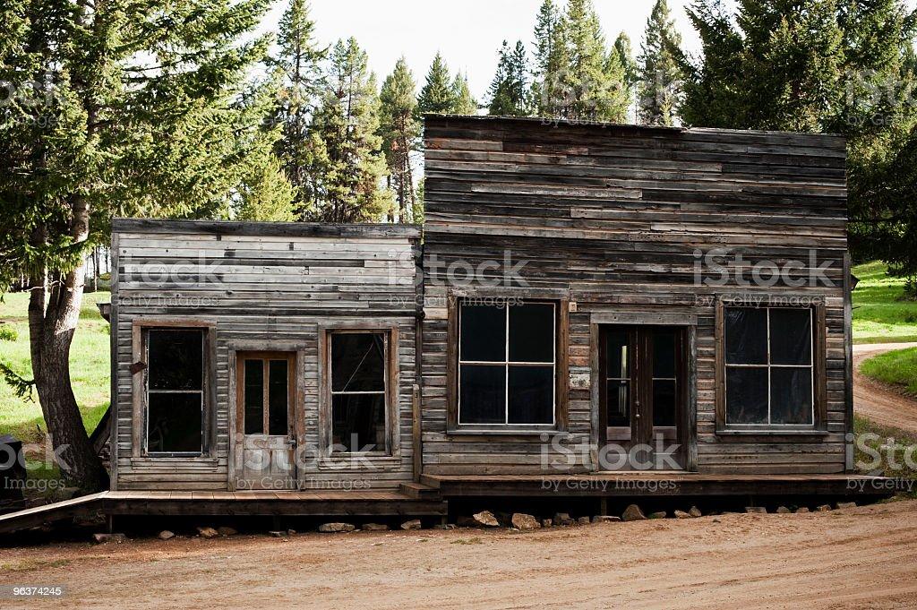 Abandoned storefronts stock photo